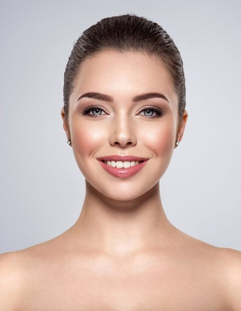 Portrait of the smiling beautiful woman